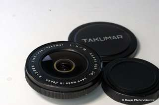 Pentax 18mm f11 M42 Takumar lens Fish eye Fisheye