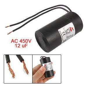CBB60 AC 450V 12uF Capacitance Wired Motor Starting Capacitor