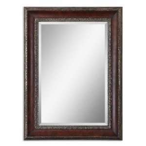 Uttermost 45 Montrose Mirror Distressed Dark Mahogany Wood Tone With