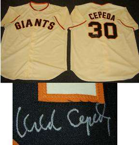 ORLANDO CEPEDA AUTOGRAPHED SIGNED GIANTS JERSEY