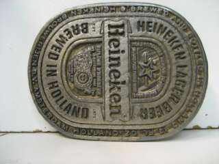 Vintage Heineken Solid Metal Belt Buckle
