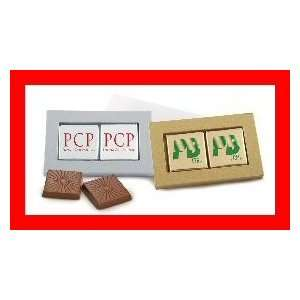Chocolate Candy Squares in Slide Box w/ Custom Imprint