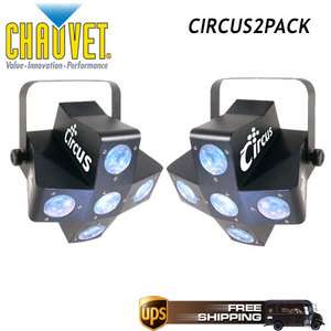 CHAUVET LIGHTING CIRCUS MULTI COLOR LED EFFECT 2 PACK 781462206383