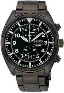 Seiko Mens SNN233 Chronograph Black Dial Watch 029665153326