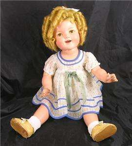 Antique Shirley Temple Composition doll 22 Stand Up Cheer Original