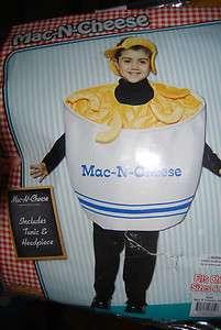 MAC N CHEESE Childs Halloween Costume Sz 4 6X PASTA