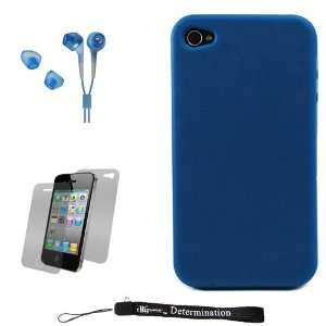 Blue Smooth Durable Protective Silicone Skin Cover Case