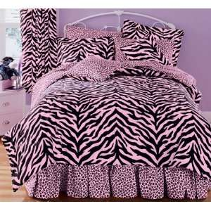 Zebra Complete Bed Set, Full 80 x 90 Home & Kitchen