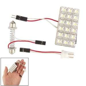 Car Interior White 18 SMD LED Light Panel Bulb T10 Dome