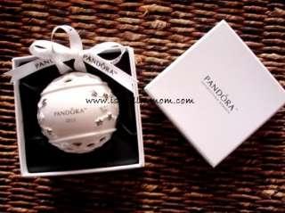 NEW Authentic PANDORA Off White Ceramic CHRISTMAS ORNAMENT 2011
