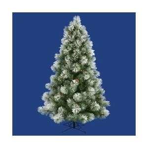 Flocked Scotch Pine Dura Lit (7.5) Fake Christmas Tree