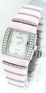Ladies Rado Jubile Sintra Pink Ceramic Mother of Pearl Diamond Watch