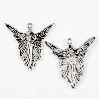 20PCS TIBETAN SILVER PRETTY FAIRY CHARM PENDANT 39X37MM
