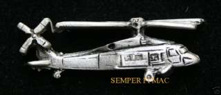 BLACKHAWK UH 60 SIKORSKY S 70 PEWTER HAT PIN US ARMY
