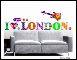 / GUITAR   Removable Wall Stickers Home Decor Modern Art Fun