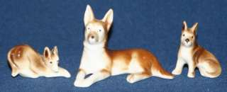 Vintage Set of Germany German Shepherd Dog Figurines