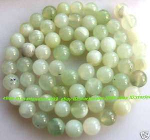 natural Green Jade 6mm Round gemstone Beads 15