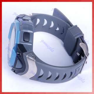 Waterproof Cold Light Plastic Band Sport Digital Watch Blue