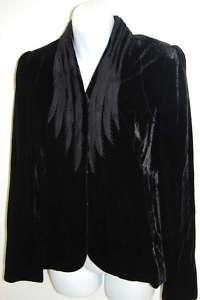 ELIE TAHARI COLLEEN Black Velvet Jacket 10 NWT NEW