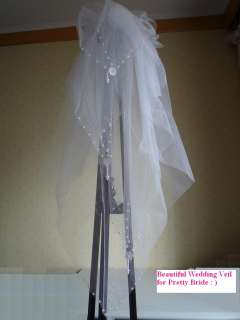New Wedding Veil White / Ivory Wedding Bridal Veil +Comb 4 layers