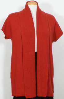 NWT EILEEN FISHER Red Silk Cashmere Cardigan PP