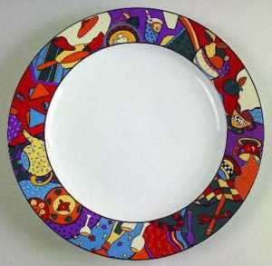 Furio Salad Plate with Fruit and Kitchen Items