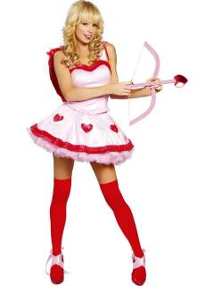 Sexy Valentines Day Cute Cupid Dress Costume Outfit