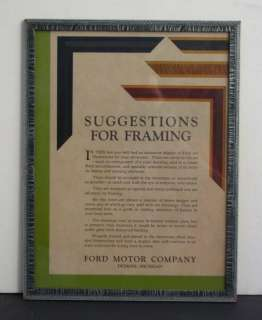 Ford Motor Company Showroom Display Information Poster