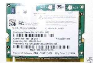 HP Compaq Presario V2000 Intel WIFI card 359106 001
