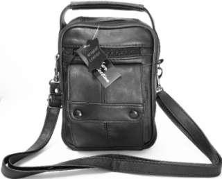 Man Black New Leather Shoulder Bag Wrist Organizer