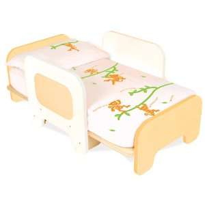 Convertible Toddler Bed, White Baby