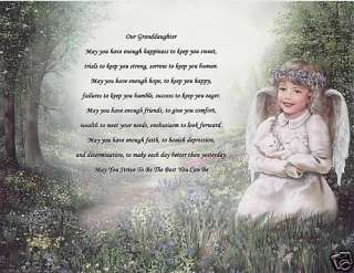 WISH 4 OUR GRANDDAUGHTER Poem Prayer Personalized Name