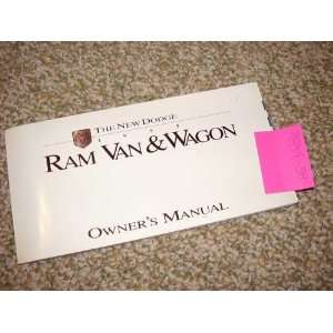 1995 Dodge Ram Van & Wagon Owners Manual Books
