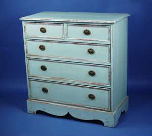 Antique English Furniture Victorian Painted Pine Chest