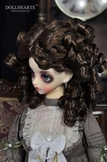 DollHeart   Dark Brown wig for 1/3, SD 10/13/16 Girl (LW413)