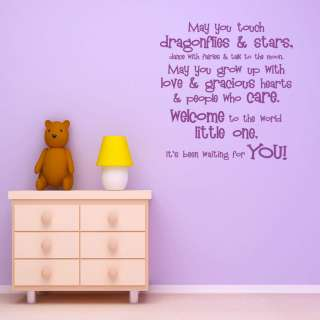 World Quote Wall Sticker Decal Transfer Vinyl Nursery Baby Room
