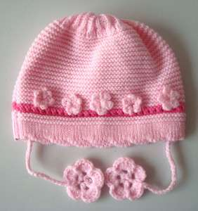 Baby Infant Crochet Beanie flower Hat cute girl lace cap 0 6 months