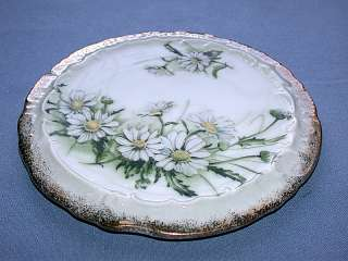 Antique Royal Crown Daisy Bouquet Hand Painted Plate