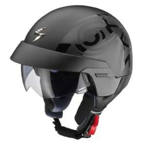 SCORPION EXO 100 TRIBAL MOTORCYCLE HALF HELMET BLACK L