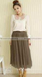 Vintage Bohemian Sweet Cute Yarn Long Skirt Dress 8 Colors WSKT184