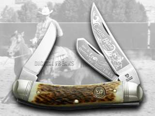HEN & ROOSTER AND Stag Cuttin Horse Stockman Knives