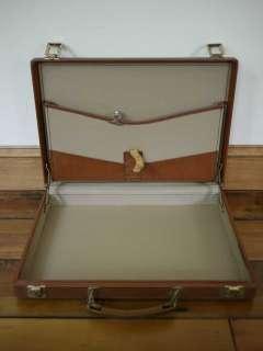 Vtg 70s Vegan Hard Shell Laptop Briefcase Suitcase