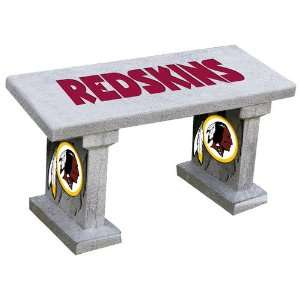 Redskins Hand Painted Concrete Garden Bench Patio, Lawn & Garden