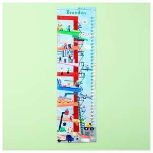 Growth Charts Kids Personalized Construction Growth Chart Home