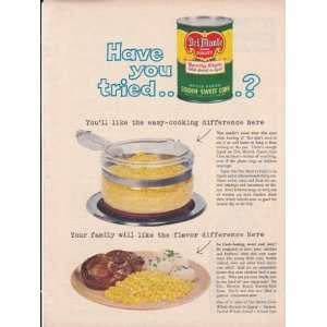 Del Monte Golden Sweet Corn 1957 Original Vintage