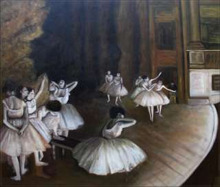 Hand Painted Oil Painting Repro Edgar Degas Ballet Rehearsal
