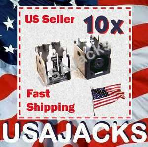 10 LOT DC POWER JACK DELL XPS M1330 M1530 1545 OCTAGON