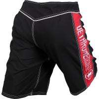Dethrone Royalty Fight Shorts   Black/Red (UFC) (MMA)