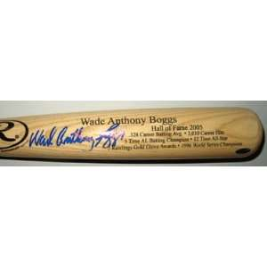 Wade Boggs Autographed Bat   Rawlings Big Stick Name