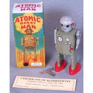Vintage Atomic Robot Man Tin Windup Toy Toys & Games